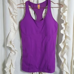 Lucy Racerback tank with sports bra removable pads